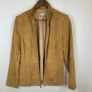 Nordstrom studio buttery soft leather suede jacket